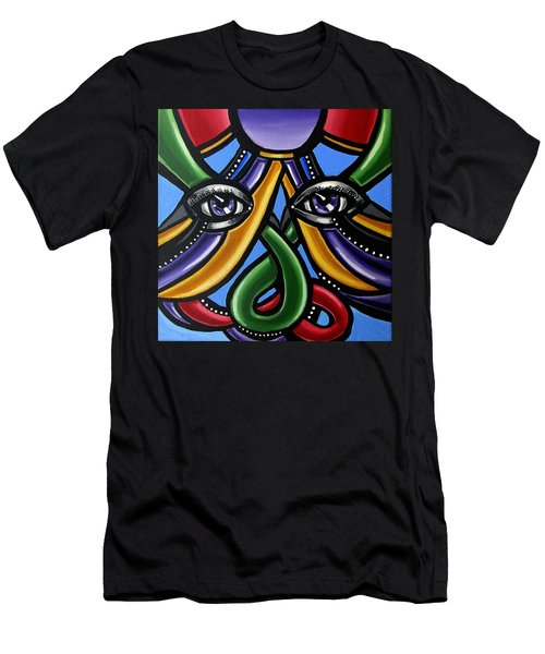 Colorful Eye Art Paintings Abstract Eye Painting Chromatic Artwork Men's T-Shirt (Athletic Fit)