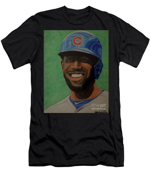 Dexter Fowler Portrait Men's T-Shirt (Slim Fit) by Melissa Goodrich