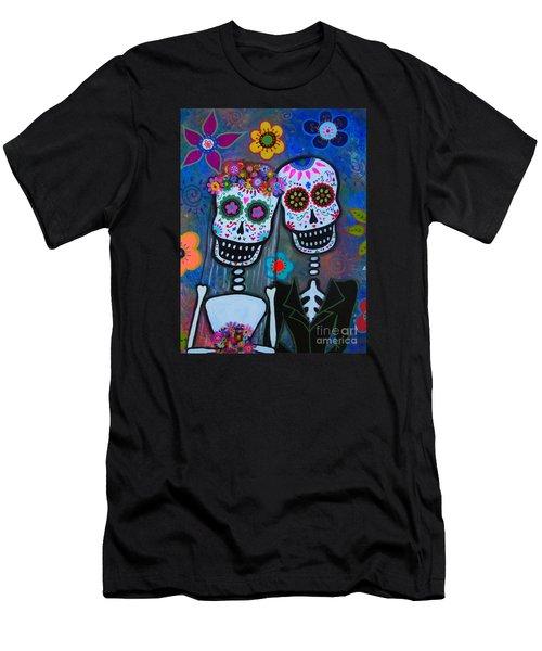 Dia De Los Muertos Matrimonio Men's T-Shirt (Athletic Fit)