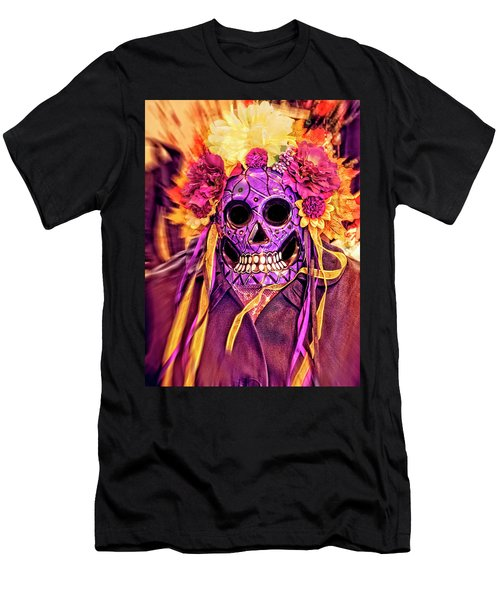 Dia De Muertos Mask Men's T-Shirt (Athletic Fit)