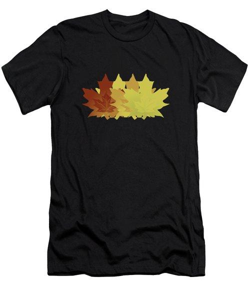 Diagonal Leaf Pattern Men's T-Shirt (Athletic Fit)