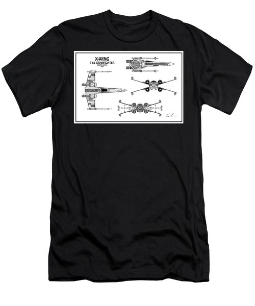 Diagram Illustration For The T-65 X-wing Starfighter From Star Wars Men's T-Shirt (Athletic Fit)