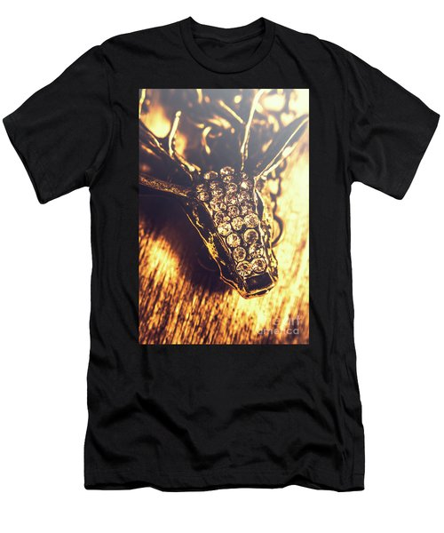 Diamond Encrusted Wildlife Bracelet Men's T-Shirt (Athletic Fit)