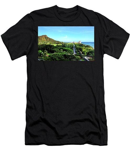 Men's T-Shirt (Slim Fit) featuring the photograph Diamond Head by Kristine Merc