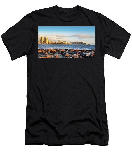 Diamond Head, Waikiki Men's T-Shirt (Athletic Fit)