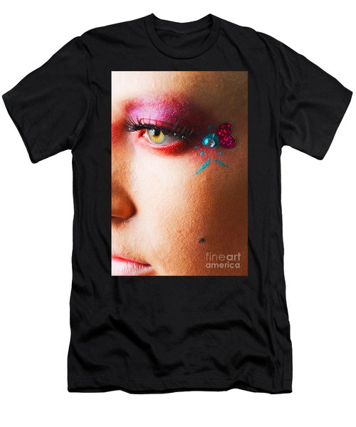 Diamond With Pink Men's T-Shirt (Athletic Fit)