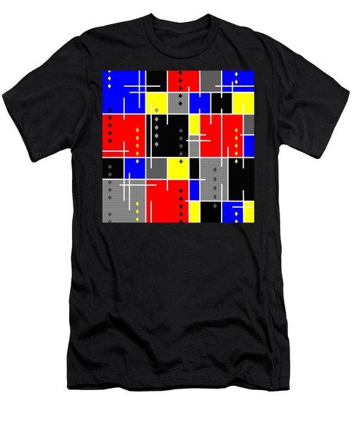 Diamonds And De Stijl Men's T-Shirt (Athletic Fit)