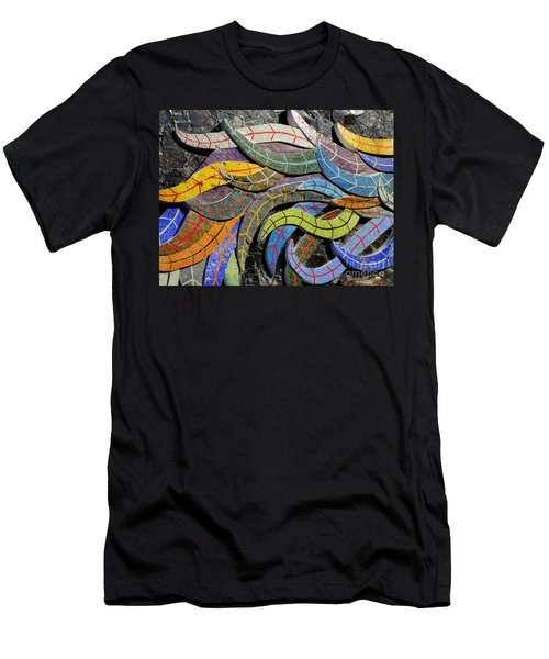 Diego Rivera Mural 6 Men's T-Shirt (Slim Fit) by Randall Weidner
