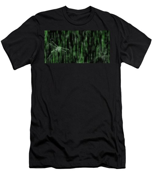 Digital Dragonfly Men's T-Shirt (Athletic Fit)