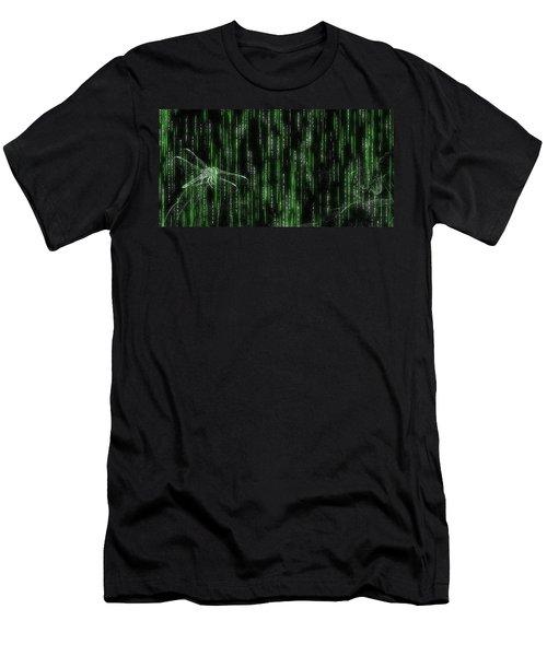 Digital Dragonfly Men's T-Shirt (Athletic Fit)