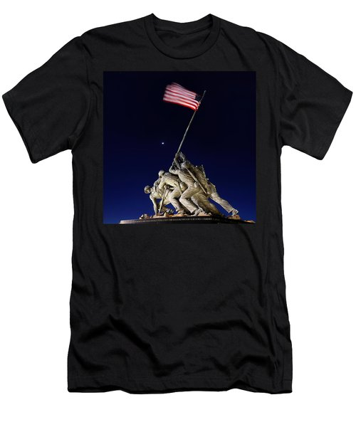 Digital Liquid - Iwo Jima Memorial At Dusk Men's T-Shirt (Athletic Fit)