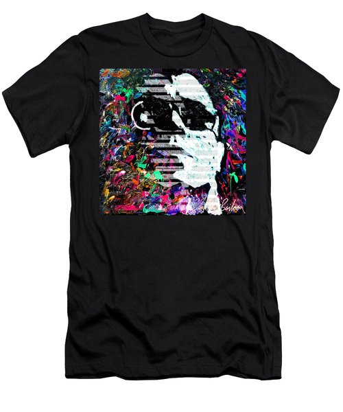 digital Lou Reed Men's T-Shirt (Athletic Fit)