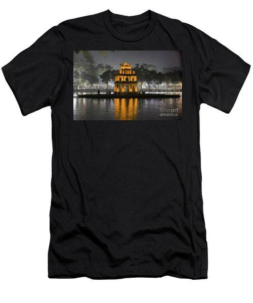 Digital Paint Mix Turtle Tower Hanoi Men's T-Shirt (Athletic Fit)