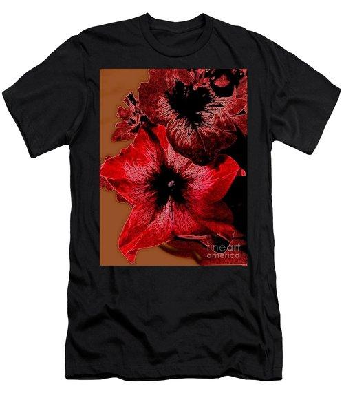 Digital Petunia Men's T-Shirt (Athletic Fit)