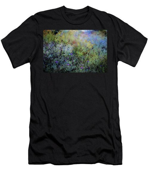 Digital Watercolor Field Of Wildflowers 4064 W_2 Men's T-Shirt (Athletic Fit)