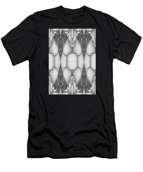 Digitized Ballpoint  Image Twenty Men's T-Shirt (Athletic Fit)