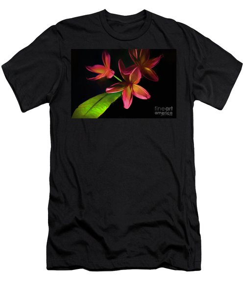 Digitized Sunset Plumerias #2 Men's T-Shirt (Athletic Fit)