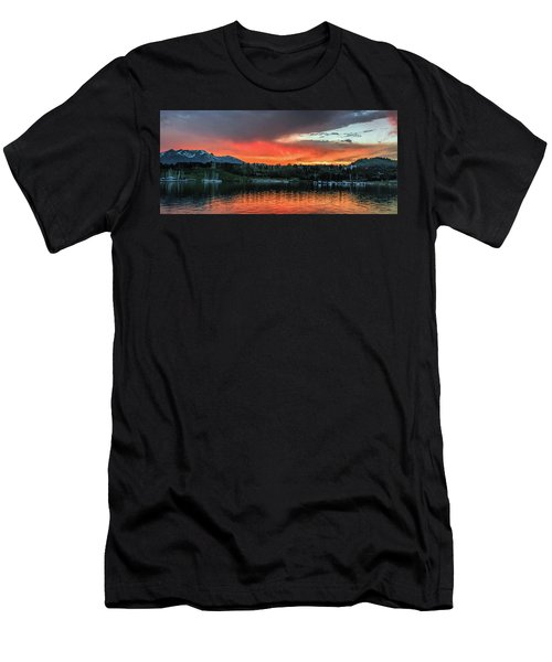 Dillon Marina At Sunset Men's T-Shirt (Athletic Fit)