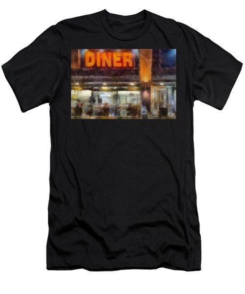 Diner Men's T-Shirt (Slim Fit) by Francesa Miller