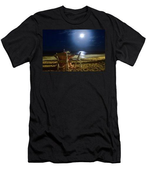 Dinner For Two In The Moonlight Men's T-Shirt (Athletic Fit)