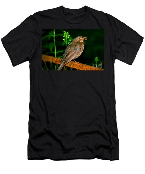 Men's T-Shirt (Slim Fit) featuring the photograph Dinner Time  by Mariola Bitner