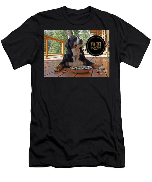 Dinner With My Dog Men's T-Shirt (Athletic Fit)