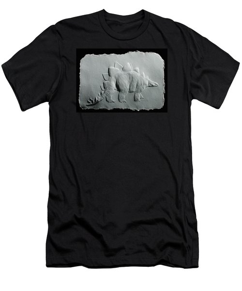 Men's T-Shirt (Slim Fit) featuring the relief Dinosaur by Suhas Tavkar