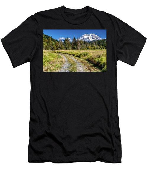 Dirt Road To Mt Rainier Men's T-Shirt (Athletic Fit)