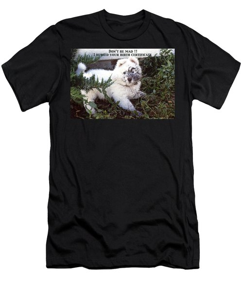 Dirty Dog Birthday Card Men's T-Shirt (Athletic Fit)