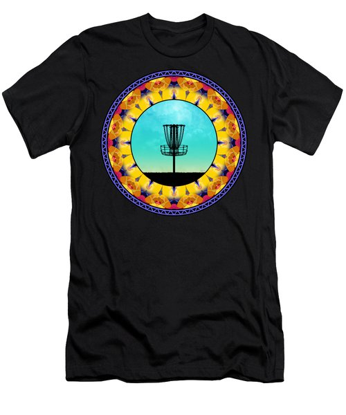 Disc Golf Abstract Basket 4 Men's T-Shirt (Athletic Fit)