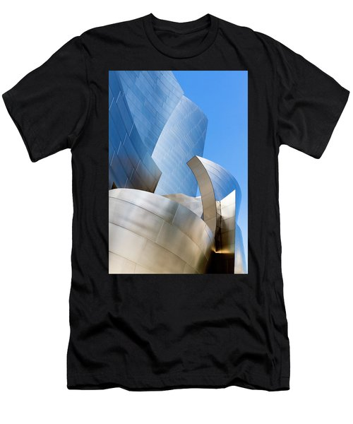 Men's T-Shirt (Athletic Fit) featuring the photograph Disney Hall In Blue And Silver by Lorraine Devon Wilke