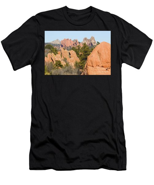 Distant Garden Of The Gods From Red Rock Canyon Men's T-Shirt (Athletic Fit)