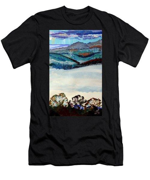 Distant Hills And Mist In The Lowlands Landscape Men's T-Shirt (Athletic Fit)