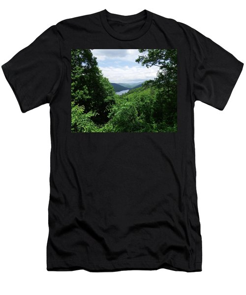 Distant Mountains Men's T-Shirt (Slim Fit) by Cathy Harper