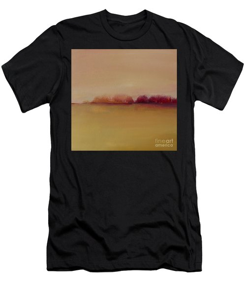 Distant Red Trees Men's T-Shirt (Athletic Fit)