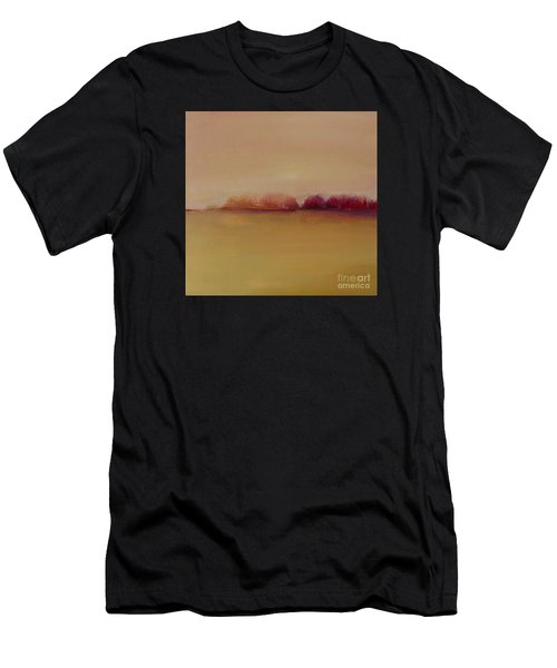 Men's T-Shirt (Athletic Fit) featuring the painting Distant Red Trees by Michelle Abrams