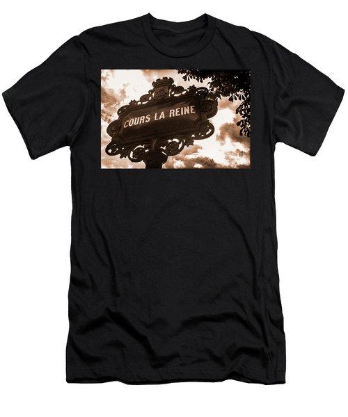 Distressed Parisian Street Sign Men's T-Shirt (Athletic Fit)