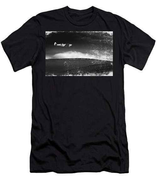 Distressed Spitfire Men's T-Shirt (Athletic Fit)