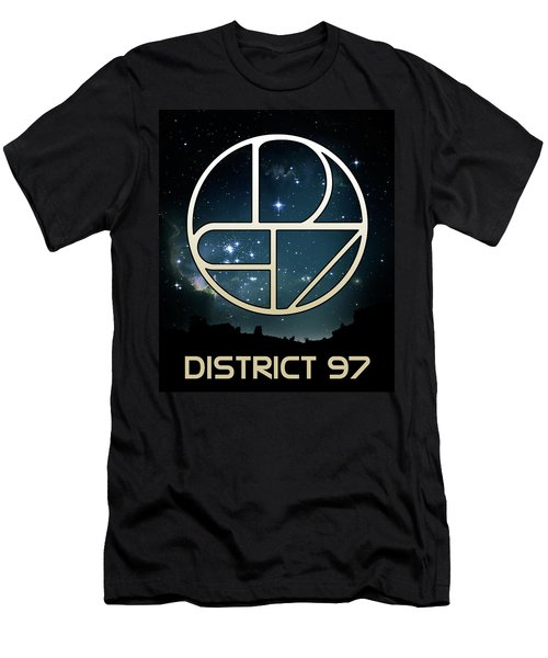 Men's T-Shirt (Athletic Fit) featuring the digital art District 97 Logo by District 97