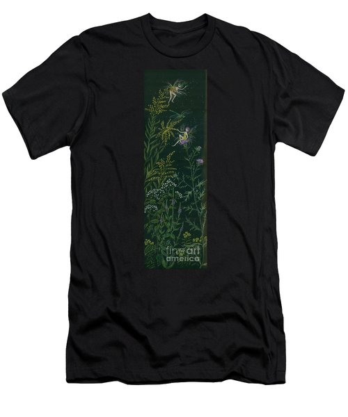 Ditchweed Fairies Goldenrod And Thistle Men's T-Shirt (Athletic Fit)