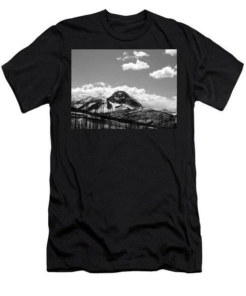 Divide In Blackand White Men's T-Shirt (Athletic Fit)