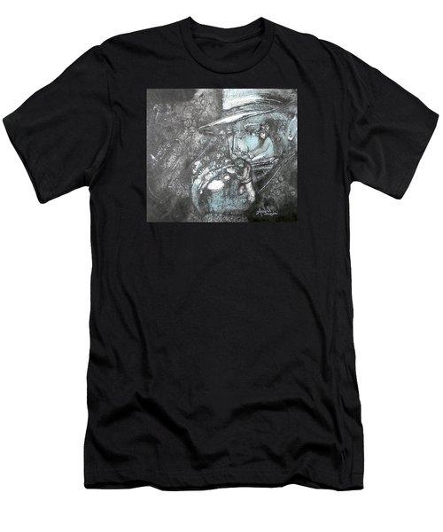 Divine Blues Men's T-Shirt (Slim Fit) by Anne-D Mejaki - Art About You productions