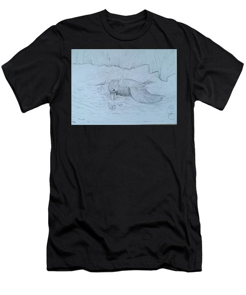 Diving Kingfisher  Men's T-Shirt (Athletic Fit)