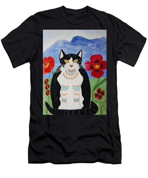 Diwali Tux Cat Men's T-Shirt (Athletic Fit)