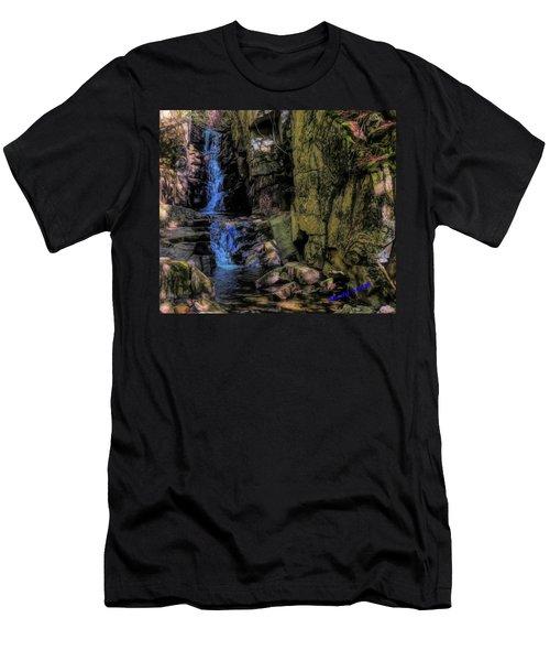 Dixville Notch Flume Brook Men's T-Shirt (Athletic Fit)
