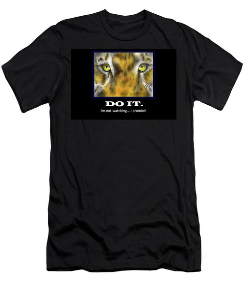Men's T-Shirt (Athletic Fit) featuring the digital art Do It Motivational by Darren Cannell