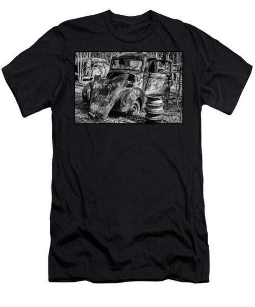 Do Not Open Hood Men's T-Shirt (Athletic Fit)