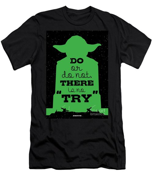 Do Or Do Not There Is No Try. - Yoda Movie Minimalist Quotes Poster Men's T-Shirt (Athletic Fit)