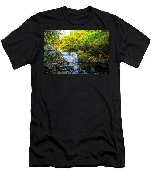 Doans Falls Lower Falls Men's T-Shirt (Athletic Fit)