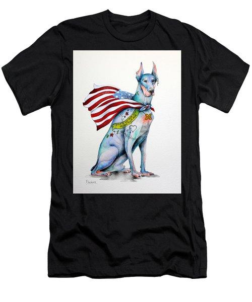 Doberman Napolean Men's T-Shirt (Slim Fit) by Patricia Lintner